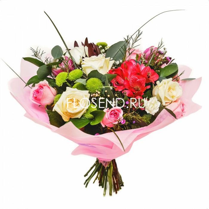 Букет из роз и тюльпанов